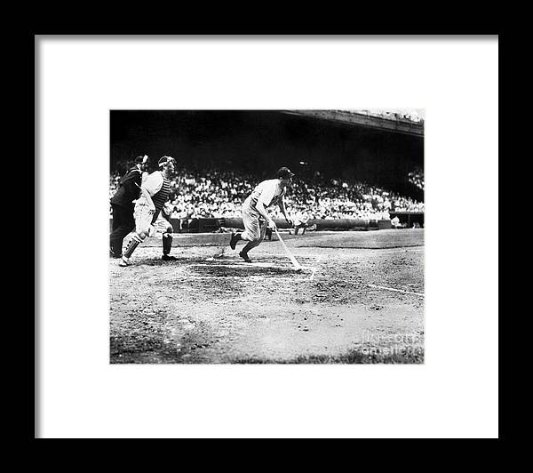 American League Baseball Framed Print featuring the photograph Joe Hall by National Baseball Hall Of Fame Library