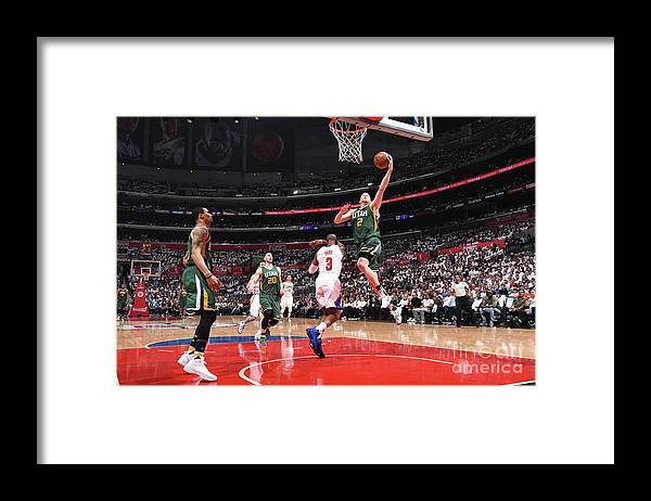 Playoffs Framed Print featuring the photograph Joe Ingles by Andrew D. Bernstein