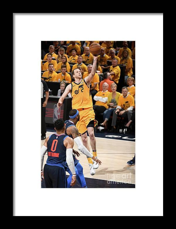 Playoffs Framed Print featuring the photograph Joe Ingles by Garrett Ellwood