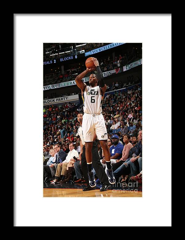 Smoothie King Center Framed Print featuring the photograph Joe Johnson by Layne Murdoch