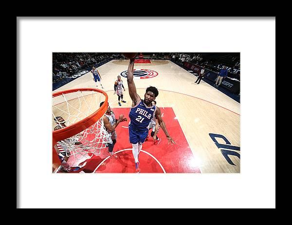 Playoffs Framed Print featuring the photograph Joel Embiid by Ned Dishman