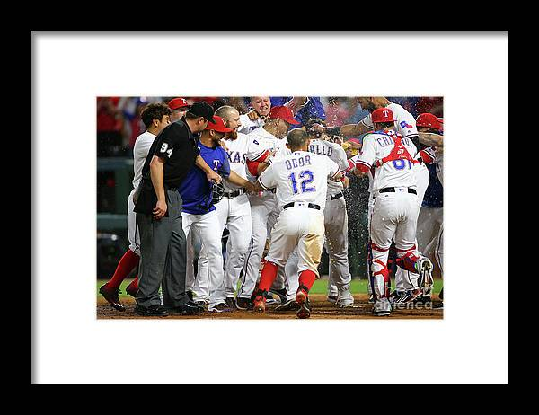 Ninth Inning Framed Print featuring the photograph Joey Gallo by Rick Yeatts