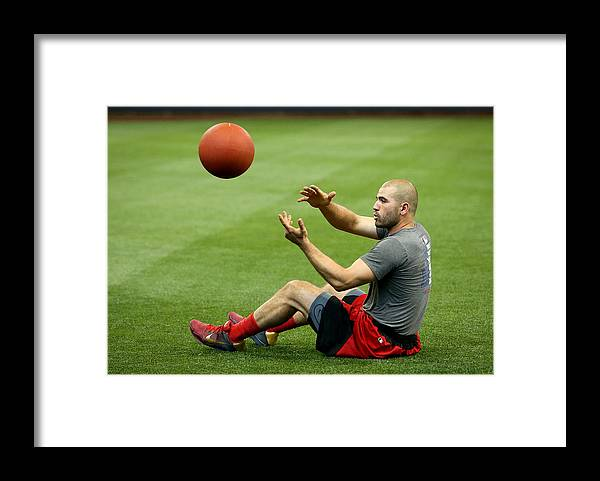 People Framed Print featuring the photograph Joey Votto by Dylan Buell