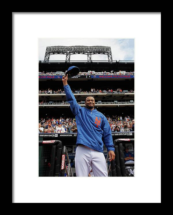 Crowd Framed Print featuring the photograph Johan Santana by Mike Stobe