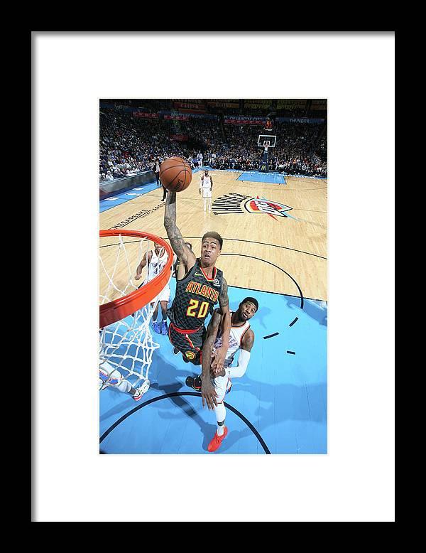 Nba Pro Basketball Framed Print featuring the photograph John Collins by Layne Murdoch