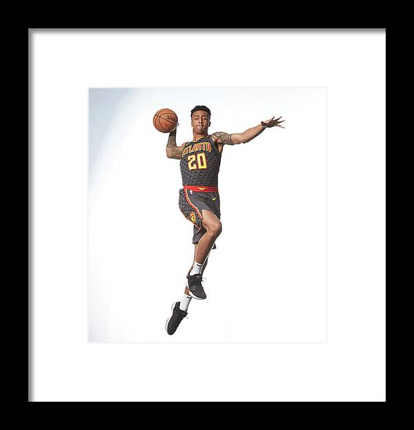 Nba Pro Basketball Framed Print featuring the photograph John Collins by Nathaniel S. Butler