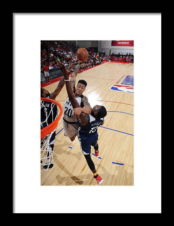 Nba Pro Basketball Framed Print featuring the photograph John Collins by Noah Graham