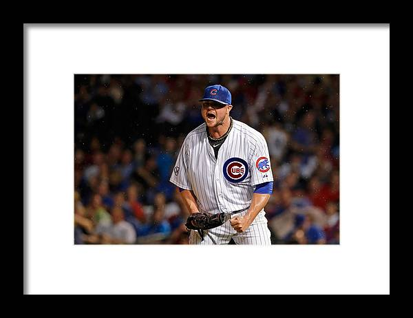 The End Framed Print featuring the photograph Jon Lester by Jon Durr