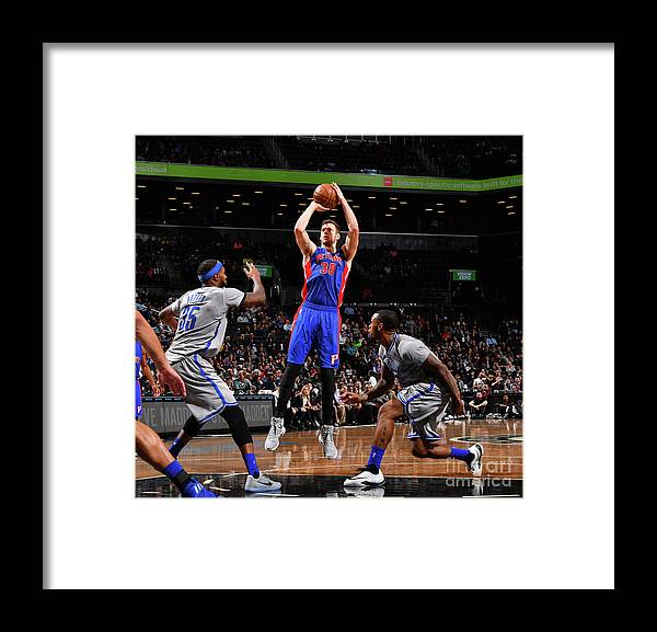 Jon Leuer Framed Print featuring the photograph Jon Leuer by Jesse D. Garrabrant