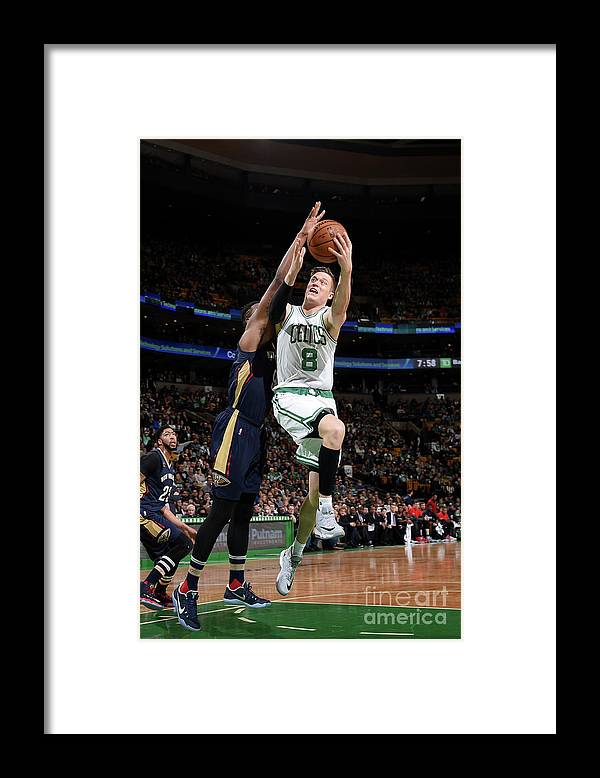 Nba Pro Basketball Framed Print featuring the photograph Jonas Jerebko by Brian Babineau