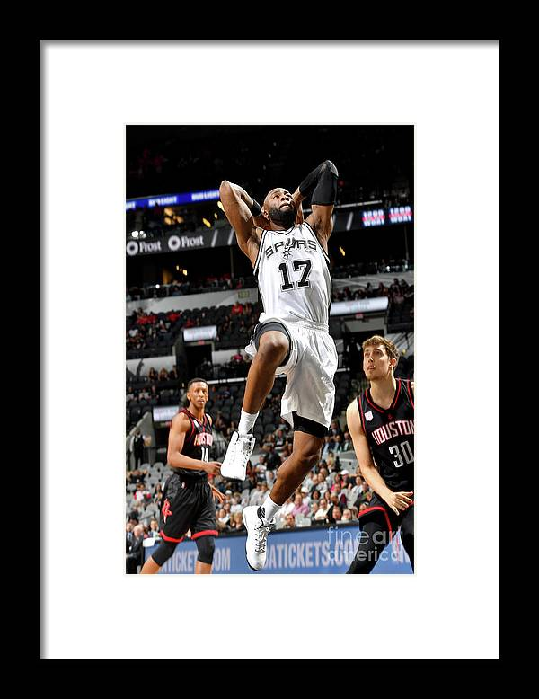 Playoffs Framed Print featuring the photograph Jonathon Simmons by Jesse D. Garrabrant