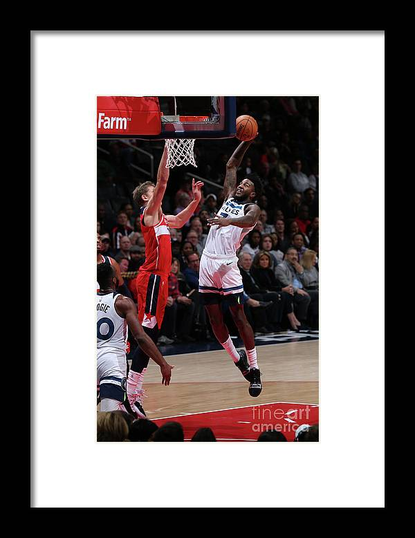 Nba Pro Basketball Framed Print featuring the photograph Jordan Bell by Ned Dishman