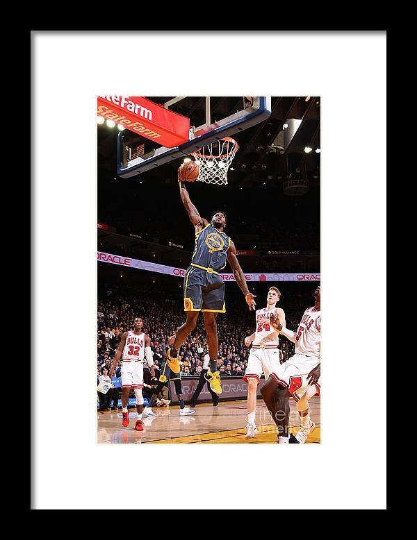 Nba Pro Basketball Framed Print featuring the photograph Jordan Bell by Noah Graham