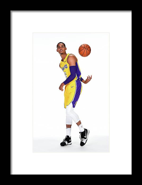 Media Day Framed Print featuring the photograph Jordan Clarkson by Andrew D. Bernstein