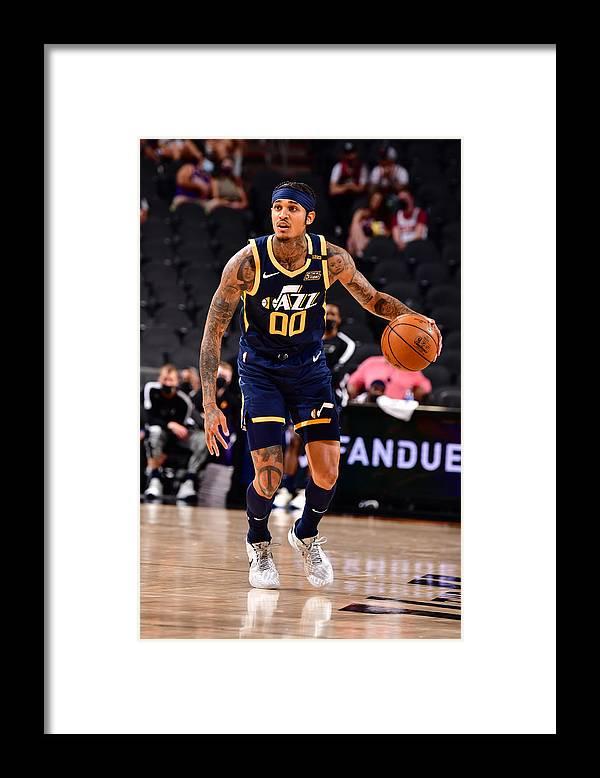 Nba Pro Basketball Framed Print featuring the photograph Jordan Clarkson by Barry Gossage