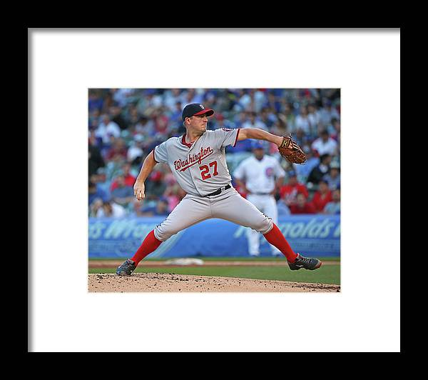 People Framed Print featuring the photograph Jordan Zimmermann by Jonathan Daniel