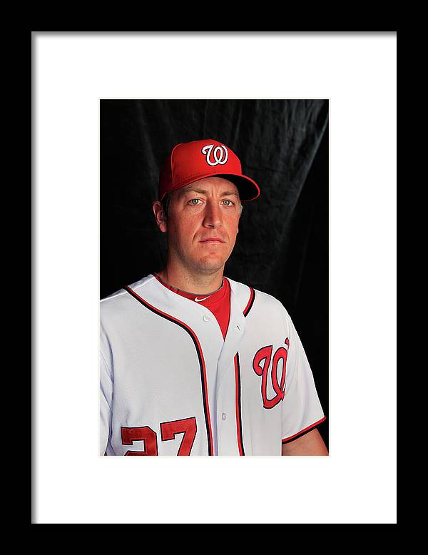 Media Day Framed Print featuring the photograph Jordan Zimmermann by Rob Carr