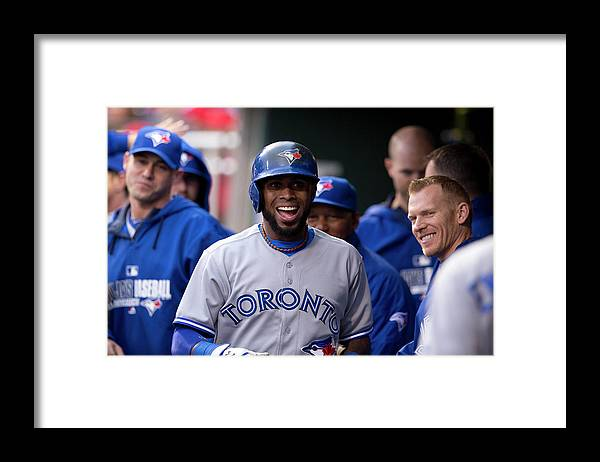 Citizens Bank Park Framed Print featuring the photograph Jose Reyes by Mitchell Leff