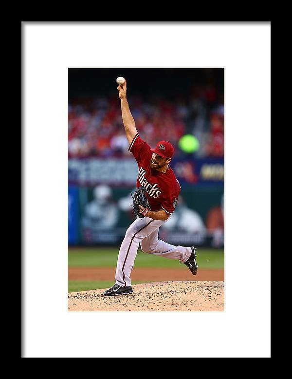 Second Inning Framed Print featuring the photograph Josh Collmenter by Dilip Vishwanat