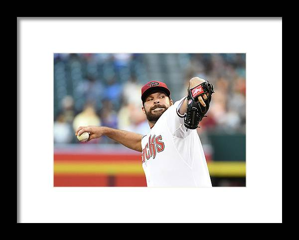 American League Baseball Framed Print featuring the photograph Josh Fields by Norm Hall