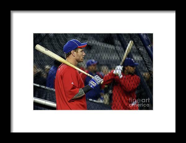 Playoffs Framed Print featuring the photograph Josh Hamilton by Al Bello