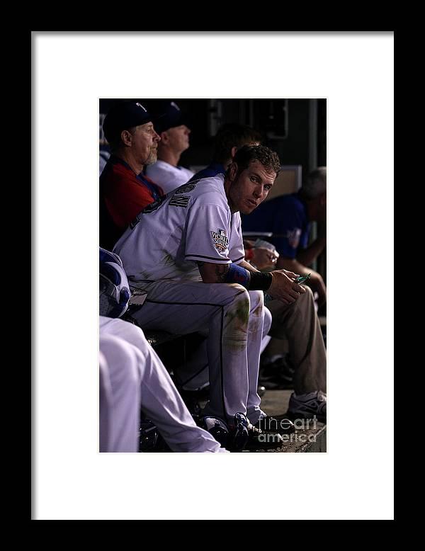 American League Baseball Framed Print featuring the photograph Josh Hamilton by Christian Petersen