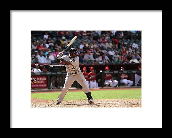 National League Baseball Framed Print featuring the photograph Josh Harrison by Christian Petersen