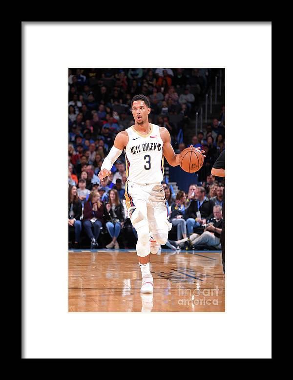 Nba Pro Basketball Framed Print featuring the photograph Josh Hart by Bill Baptist