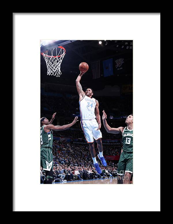 Nba Pro Basketball Framed Print featuring the photograph Josh Huestis by Nathaniel S. Butler