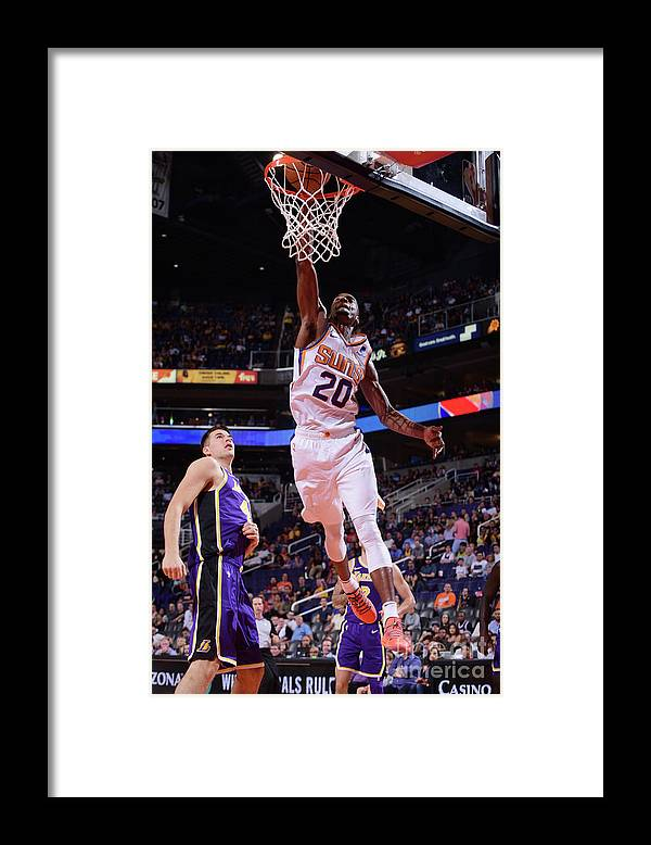 Nba Pro Basketball Framed Print featuring the photograph Josh Jackson by Michael Gonzales