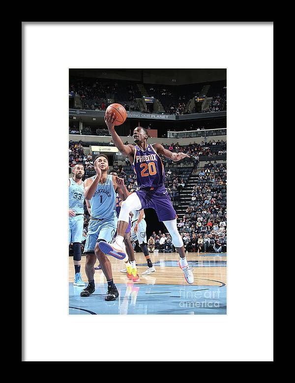 Nba Pro Basketball Framed Print featuring the photograph Josh Jackson by Ned Dishman