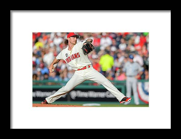 American League Baseball Framed Print featuring the photograph Josh Tomlin by Jason Miller
