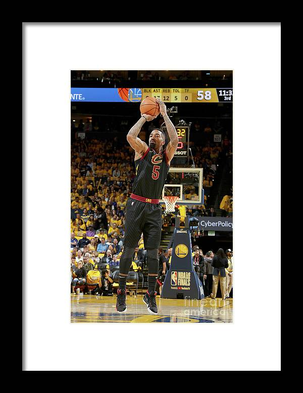 Playoffs Framed Print featuring the photograph J.r. Smith by Nathaniel S. Butler