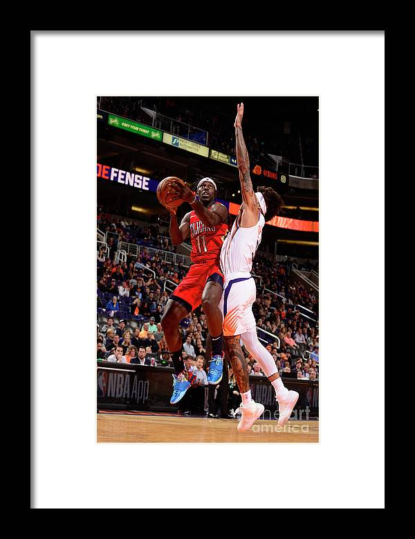 Nba Pro Basketball Framed Print featuring the photograph Jrue Holiday by Barry Gossage
