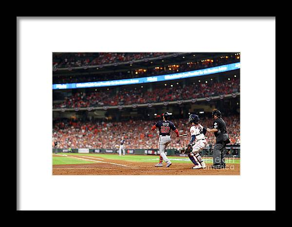 American League Baseball Framed Print featuring the photograph Juan Soto by Mike Ehrmann
