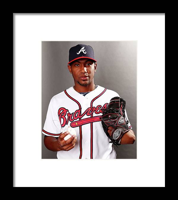 Media Day Framed Print featuring the photograph Julio Teheran by Elsa