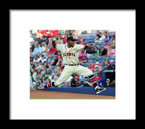 Atlanta Framed Print featuring the photograph Julio Teheran by Scott Cunningham