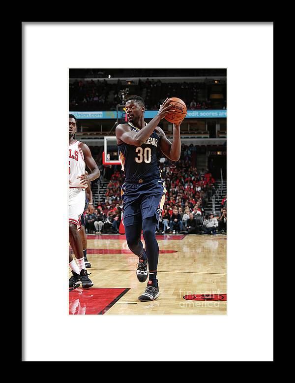 Nba Pro Basketball Framed Print featuring the photograph Julius Randle by Gary Dineen