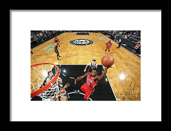 Nba Pro Basketball Framed Print featuring the photograph Julius Randle by Nathaniel S. Butler