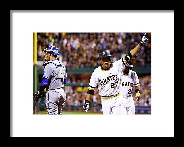Three Quarter Length Framed Print featuring the photograph Jung Ho Kang by Jared Wickerham
