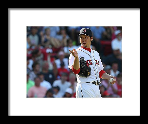 Three Quarter Length Framed Print featuring the photograph Junichi Tazawa by Jim Rogash