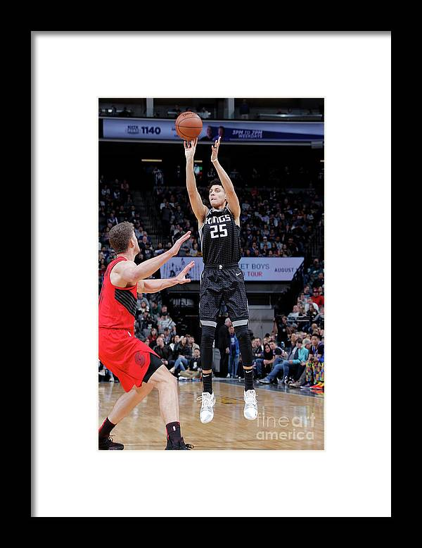 Nba Pro Basketball Framed Print featuring the photograph Justin Jackson by Rocky Widner
