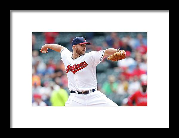 American League Baseball Framed Print featuring the photograph Justin Masterson by Joe Robbins