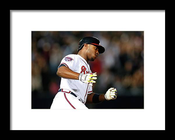 Atlanta Framed Print featuring the photograph Justin Upton and Jason Heyward by Kevin C. Cox