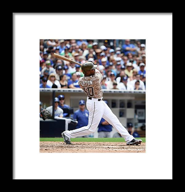People Framed Print featuring the photograph Justin Upton by Denis Poroy