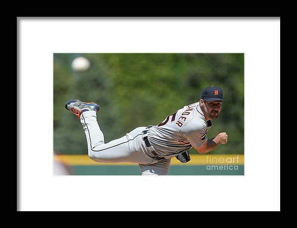 People Framed Print featuring the photograph Justin Verlander by Dustin Bradford