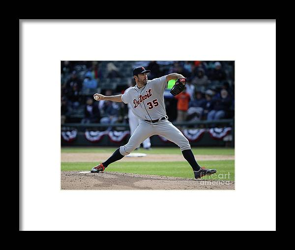 People Framed Print featuring the photograph Justin Verlander by Jonathan Daniel