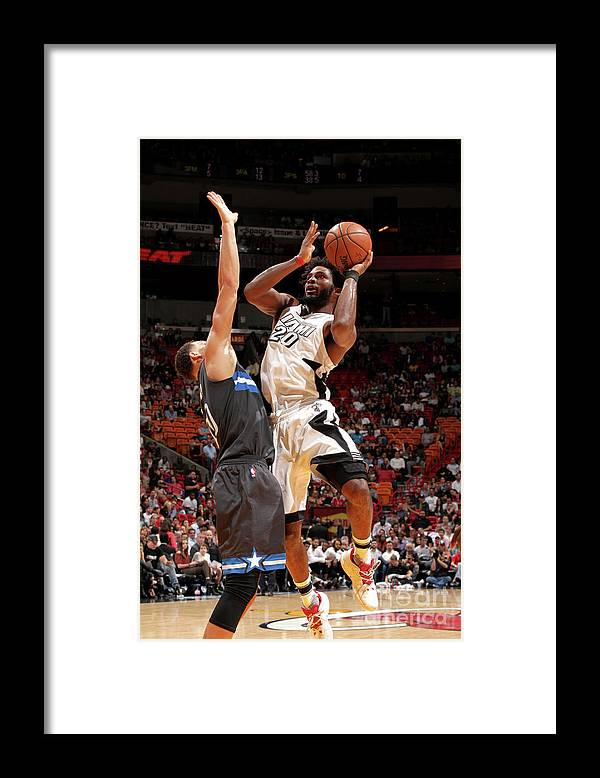 Justise Winslow Framed Print featuring the photograph Justise Winslow by Oscar Baldizon