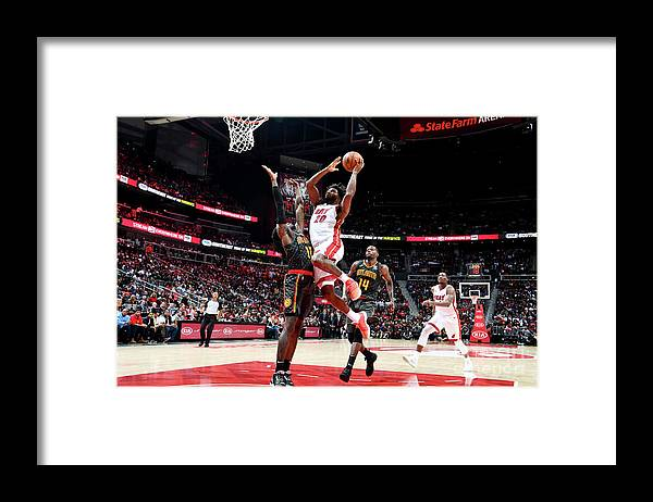 Atlanta Framed Print featuring the photograph Justise Winslow by Scott Cunningham