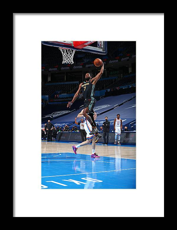 Justise Winslow Framed Print featuring the photograph Justise Winslow by Zach Beeker